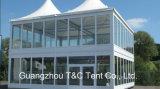 Шатер выставочного зала автомобиля двойного Decker крыши алюминиевой структуры термо- для сбывания