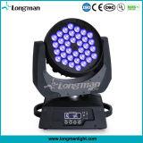 세륨 DMX 36X10W RGBW 4in1 LED 이동하는 맨 위 세척 빛