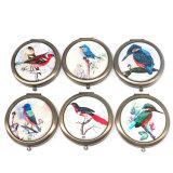 卸し売り安い鳥映像の骨董品の金属のコンパクトミラーCm1027