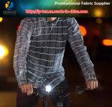 O fio de poliéster tingiu a tela reflexiva de Ripstop para a veste da segurança (YD1010)