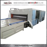 Cadena de alimentación de cuatro colores de impresión de cartón corrugado que ranura de la máquina de corte Die