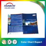 Impressão do cartão da cor da pintura da parede do material de construção