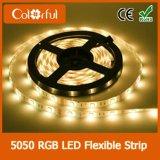 Striscia impermeabile di vendita calda DC12V RGB SMD5050 LED