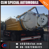 Camion de réservoir d'aspiration d'égout de Dongfeng 12mt vidant le camion-citerne d'eaux d'égout
