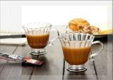 Cuvette en verre simple 360ml de thé de cuvette de café de cuvette de cuvette à haute teneur transparente de lait