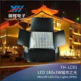 ricevente senza fili IP65 impermeabile RGB 3 di 180*9W DMX in 1 indicatore luminoso di colore della città del LED