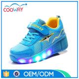 Zapatos de fábrica OEM Deportes ruedas para niños LED zapatos del patín de ruedas