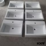カスタム様式のCorianの固体表面の壁は洗面器をハングさせた