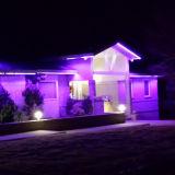 SMD5050 220V 240Vの二重列LEDロープライト屋外の装飾ライト