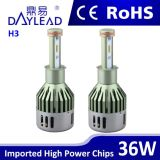Faro luminoso eccellente del LED con l'indicatore luminoso dell'automobile del chip del ventilatore 3800lm Samsung