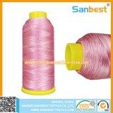 Cuerda de rosca colorida del bordado del poliester con la lubricación