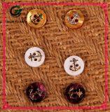 Кнопка гравировки лазера пряжки шинели кнопки рубашки цвета