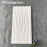300*600白い波の光沢のある表面によって艶をかけられる陶磁器の壁のタイル