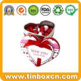 Estaño en forma de corazón para el chocolate, Caja de la lata del corazón
