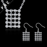Promotionnel Nouvel Design Square Anniversary Cubic Zirconia Jewelry Set