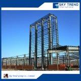 大きいスパンの絶縁体のパネルが付いているプレハブの鉄骨構造の家の産業鋼鉄建物