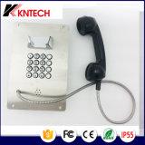 Téléphone de secours du téléphone Knzd-07A de bouton en métal d'acier inoxydable