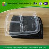 De beschikbare Plastic 3 Container van het Voedsel van het Compartiment pp