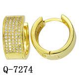 Micro ювелирных изделий способа вымощает покрынное золото серег 14k установки латунное