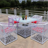PE Rattan Mesa e cadeira Set Dining Furniture