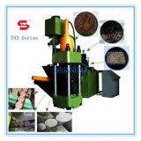 Máquina hidráulica de la prensa de enladrillar del serrín del metal Y83-315