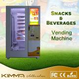 Distributore automatico senza contatto del pranzo della casella di pagamento con il braccio del robot