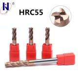 Molinos de extremo sólidos de las flautas del carburo 4 de la alta calidad de la fabricación para el SUS