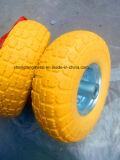 Стальная вагонетка руки с колесом пены PU