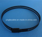 4.6X300mm Plastik gesprühter Edelstahl-Kabelbinder