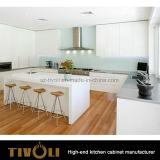 Шкафы хранения кухни Veneer грецкого ореха с конструкцией Tivo-0248h открытых полок