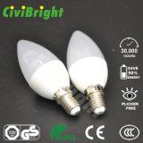 E14 최고 밝은 집 장식적인 6W LED 촛불