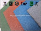 Mattonelle di gomma 500*500 1000*1000 del lastricatore del pavimento di sicurezza esterna quadrata del campo da giuoco