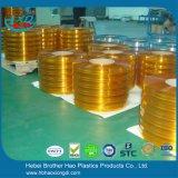 Het super Transparante Oranje Gordijn van de Strook van Geribbeld pvc van het anti-Insect Dubbele Plastic Vinyl
