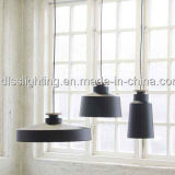 Lámpara pendiente simple del metal negro del color con el Ce, certificación de SAA