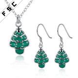 卸し売り最も新しいデザインかわいいクリスマスツリーの宝石類は女の子のためにセットした
