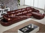 Самомоднейшая живущий софа кожи приема гостиницы мебели комнаты (HX-SN045)