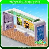 거리 버스 간이 건축물 광고 대피소 간이 건축물을 광고하는 버스 정류소