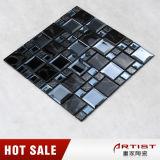 Azulejos de mosaico de cristal azules de la sala de estar y grises decorativos