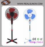 ventilador del soporte 16inch con el viento Lámina-De gran alcance de cinco ABS