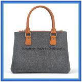 Le lane personalizzate di disegno hanno ritenuto il sacchetto casuale della maniglia di acquisto, borsa calda del Tote dell'elemento portante di promozione con la maniglia comoda di cuoio dell'unità di elaborazione