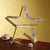 Fábrica directamente Cristal Star Glass Award Trophy para la decoración