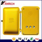 黄色いハンズフリーの自動ダイヤル緊急の電話Knsp-04 Kntech