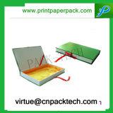 Rectángulo de regalo de encargo impreso lujo de la cartulina para empaquetar