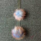 擬似毛皮の球のキーホルダーののどの毛皮Keychain 3つのカラー