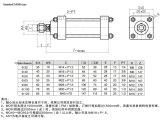Cilindro hidráulico leve hidráulico de Rod de laço do cilindro Mob63X100 do petróleo com a flange dianteira do Fa