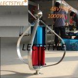 генератор ветра типа 1000W AC48V/96 q вертикальный для домашнего применения