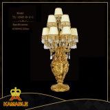 Lâmpadas de tabela de bronze Antiqued de cristal das lâmpadas de tabela dos bens Home (TA-1048-8+4+1)