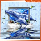 Картина маслом акулы напечатанная Inkjet для домашнего украшения