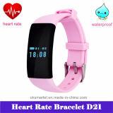 Braccialetto astuto D21 del Wristband di nuoto impermeabile di frequenza cardiaca