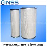 Filtro dalla cartuccia con l'aletta rotativa per l'accumulazione di polvere